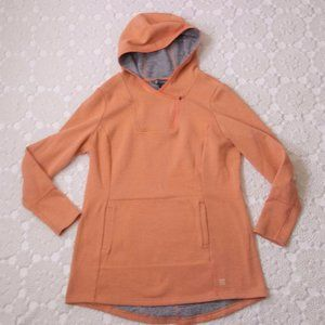 Title Nine M Orange Hoodie Sweatshirt Pull over